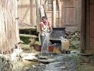 Hier wird noch angepackt - Dorf in den Reisterrassen (Ping An)