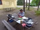 Der Kocher wird startklar gemacht - Helenesee