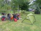 Ein sehr netter Zeltplatz in Mescherin (muss man nicht kennen)