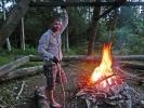 Lagerfeuer - mit Würstchen anbraten