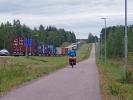 LKW-Stau vor der Russischen Grenze