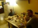 Abschiedsessen mit Pasta und Vermentino