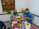 Mit Andrea und Romain in einer urigen Trattrria