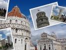Pisa ist eine Stadt in Italien, gelegen in der Toskana mit dem Schiefen Turm.