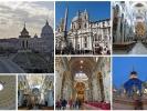 Rom ist auch für seine vielen Kirchen bekannt ...