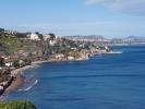 Küste Siziliens, erster Tag Rad fahren in Italien, von Palermo.