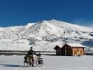4 cm Neuschnee am nächsten Morgen … na das wird eine Abfahrt