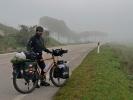 Bei solch einem Wetter fällt das Radfahren echt nicht leicht … aber für euch lache ich trotzdem.