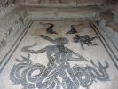 schwarz und weiß Fußboden-Mosaike in Pompeji