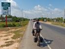 Kambodscha hat uns gut gefallen was das Radfahren betrifft, meist ging's auf gut asphaltierten Straßen vorwärts