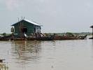 In der Nähe von Siem Reap ist das schwimmende Dorf auf dem Tonle Sap See