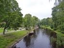Riga Altstadt ist durch einen kleinen Kanal umgeben