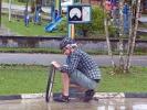 Mathias' dritter platter Reifen ... wo ist nur das Loch?