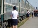Schaffnerinnen der Transmongolischen Eisenbahn