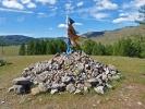 Wer hier einen Stein ablegt und drum herumläuft soll mit Glück beschenkt werden