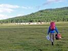 Das Camp in Sicht - ganz wichtig das Mehl nicht verlieren :-)