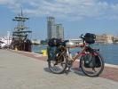 Patricks Rad auf der Promenade von Gdynia