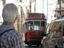 Straßenbahn Fan in Lissabon ((-: