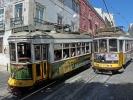Die Linie 28E der Straßenbahn Lissabon