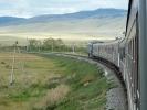 Langsam schlaengelt sich der Zug Richtung Mongolei