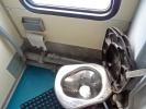 Toilette mit direkter Verbindung zu den Gleisen :-)
