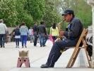 Saxophon-Spieler aus Madrid im Park Retiro