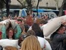Kissenschlacht in Barcelona