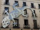 ein Gecko ganz aus CDscheiben in Madrid