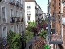 Blick aus dem Hostel auf der Calle de Huertas