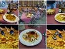 Eine Paella ist ein spanisches Reisgericht aus der Pfanne und das Nationalgericht der Region Valencia und der spanischen Ostküste.