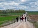 Pilgerstau auf dem Camino de Santiago (Jakobsweg)
