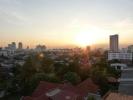 abendlicher Ausblick vom Apartment in Bangkok